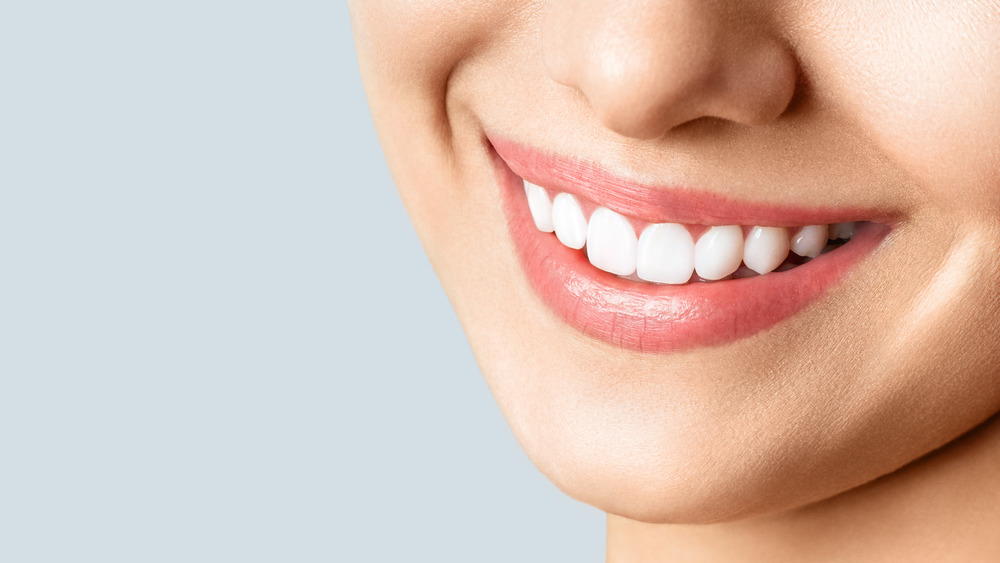 woman's smiling mouth