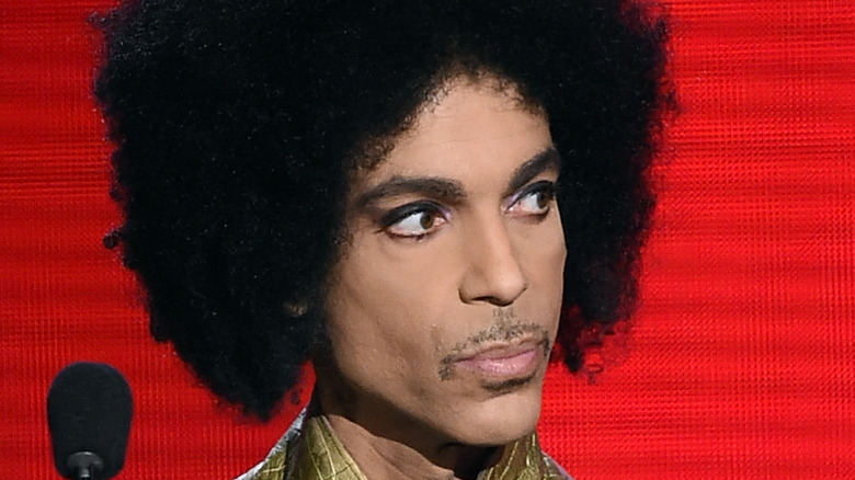 Close up of the singer Prince