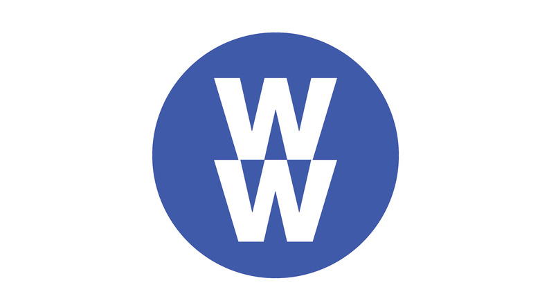 The Weight Watchers logo in the same shade as their blue plan documentation