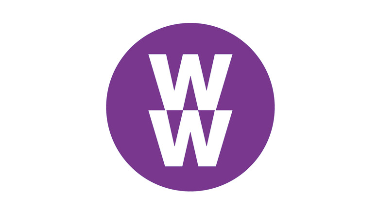 The Weight Watchers logo in the same shade as their purple plan documentation