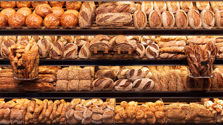 variety of carb-rich foods