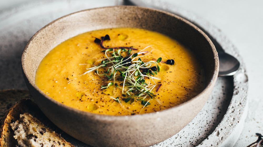 An easy to eat, blended soup