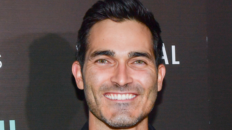 Close up of Tyler Hoechlin at a premier