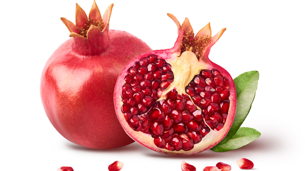 Fresh ripe pomegranate with seeds