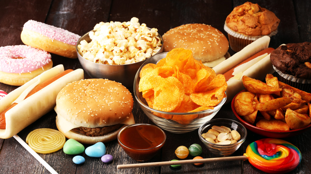 assorted processed foods